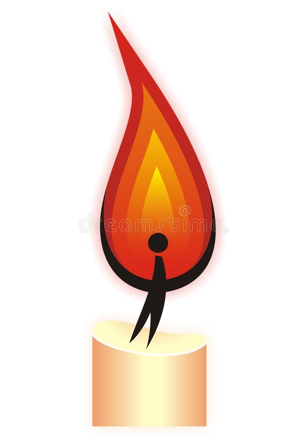 Candle man vector illustration