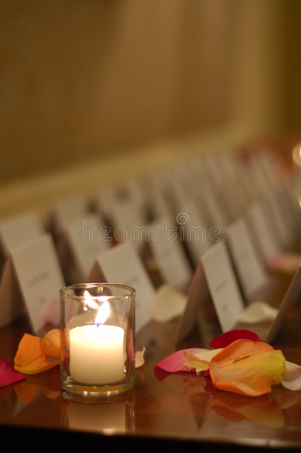 Candle and Name Tags royalty free stock photos