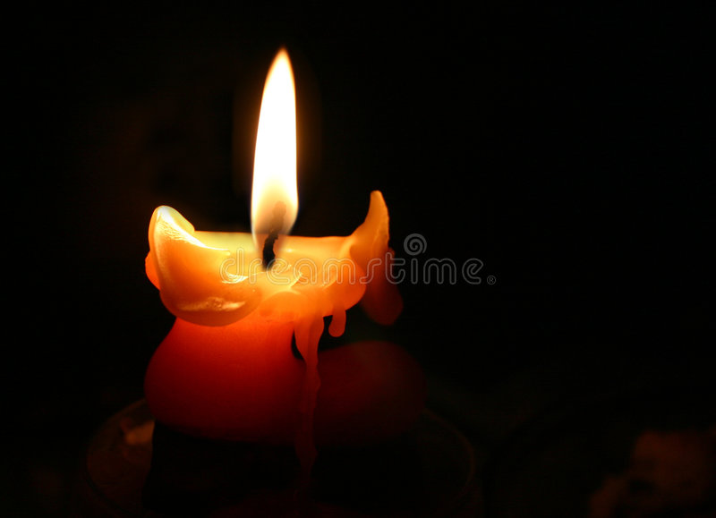Download Candle in the night stock image. Image of black, background - 16829
