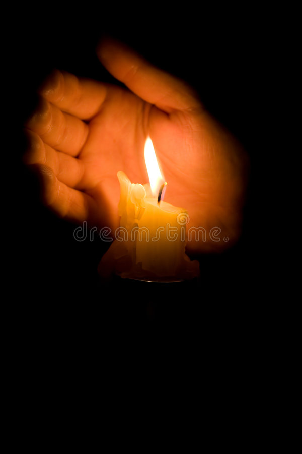 Candle in night stock images
