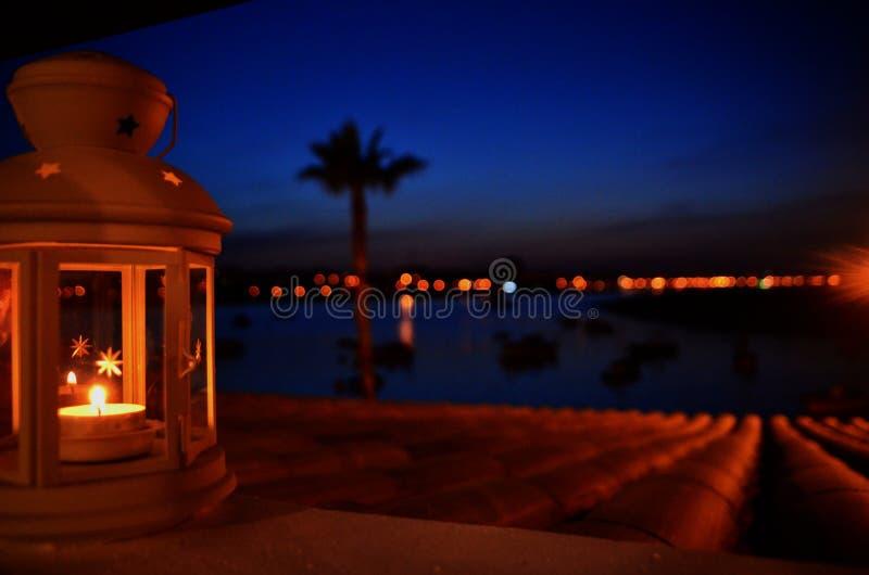 Candle at night royalty free stock photos