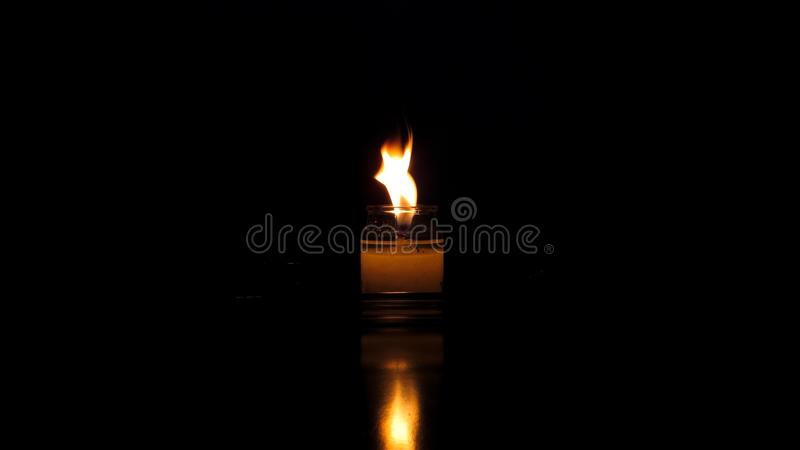 Candle and reflection royalty free stock images