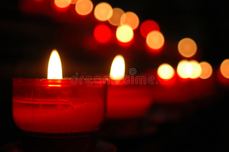 Candle's flames stock image