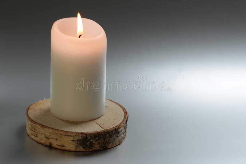 Candle of silence stock photo