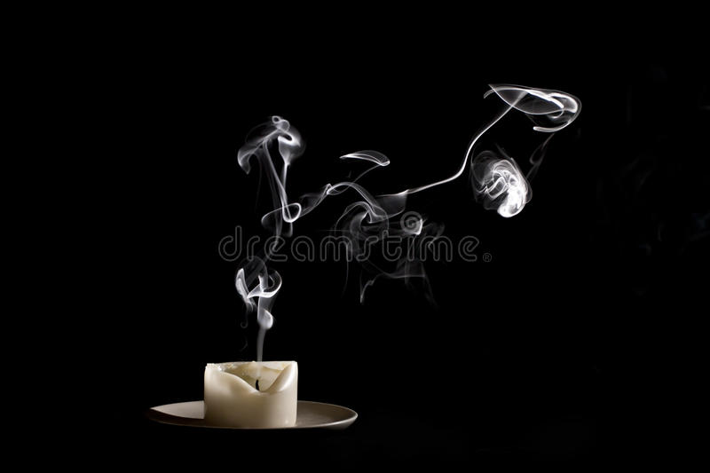Download Candle smoke stock image. Image of plate, finished, black - 22540875