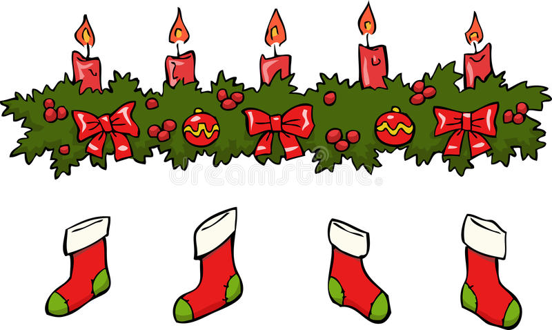 Candle socks vector illustration