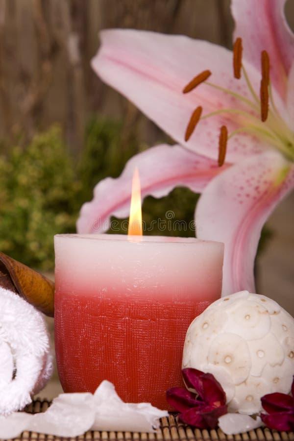 candle spa στοκ φωτογραφίες