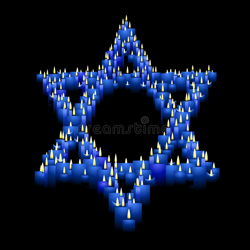 Download Candle star of David stock vector. Image of vector, blue - 10899634