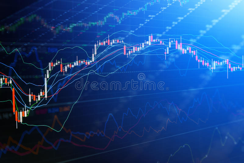Candle stick graph chart of stock market investment tradin business finance and investment concept royalty free illustration