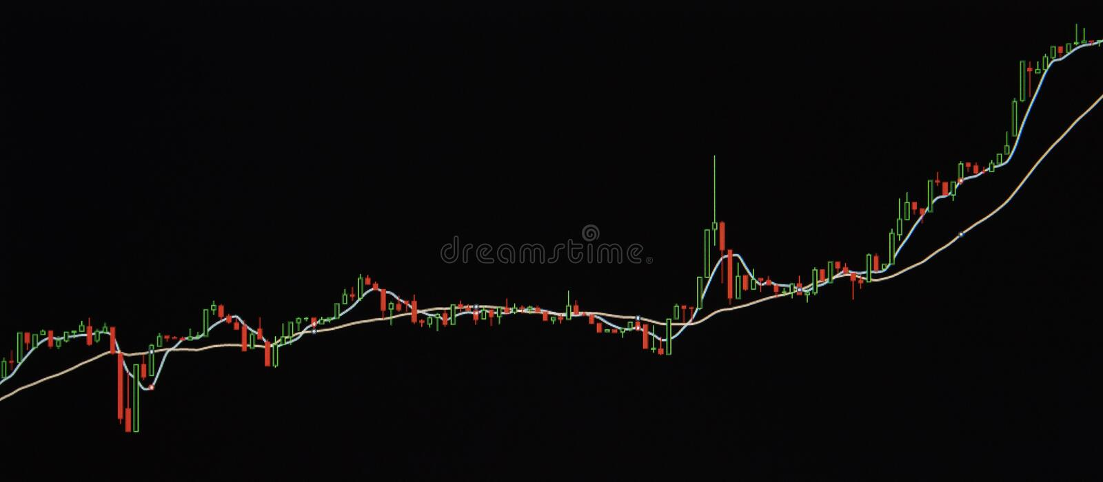 Candle stick graph chart of stock market. royalty free stock photos