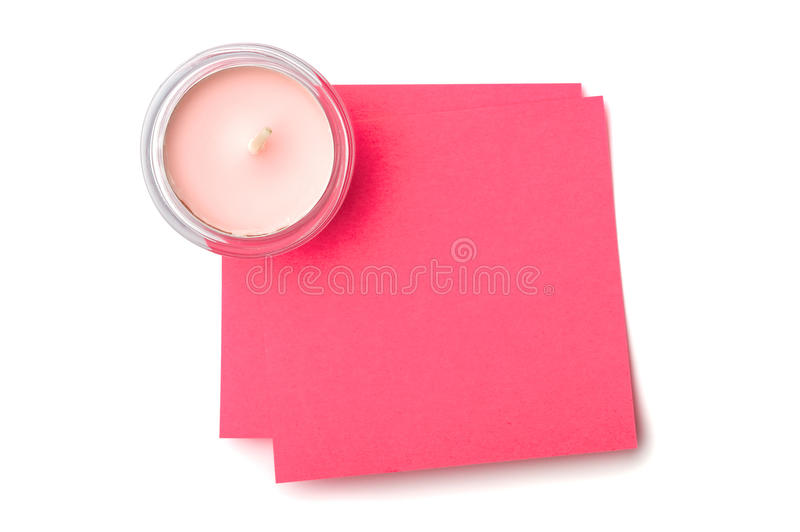 Download Candle and sticky note stock photo. Image of note, isolated - 28539184