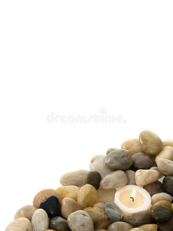 Download Candle In Stones Stock Photo - Image: 22238190