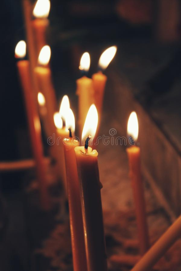 Candle for success stock images