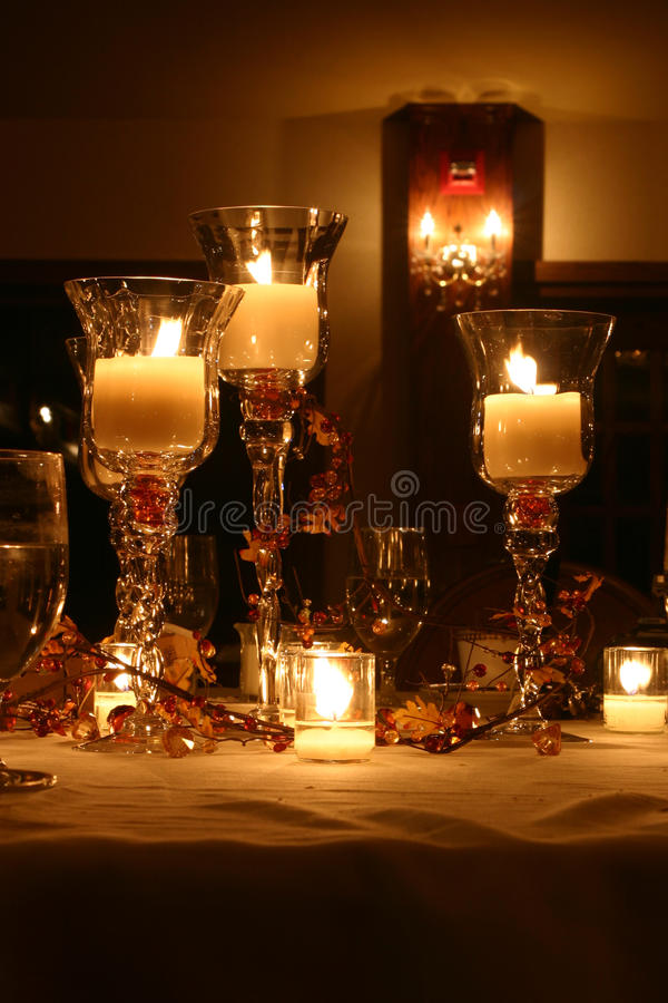 Candle Table royalty free stock photos