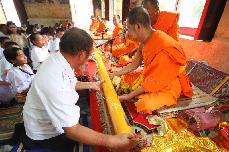 Candle tradition Buddhism in thailand royalty free stock photo