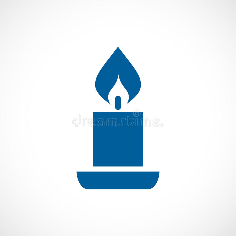 Candle vector icon royalty free illustration