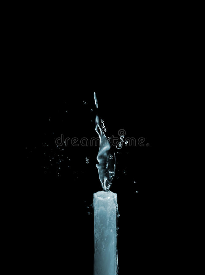 Candle of water and ice royalty free stock photography