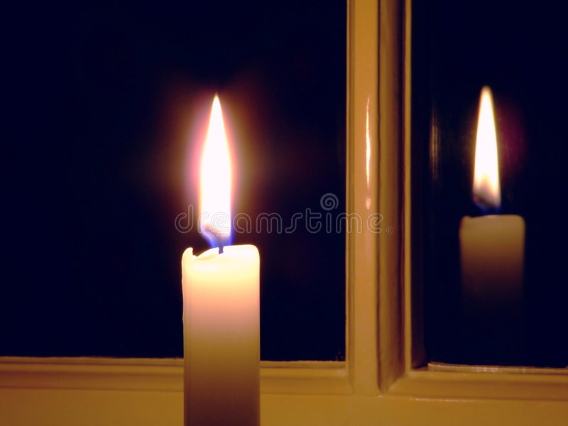 Candle By The Window Royalty Free Stock Images Image