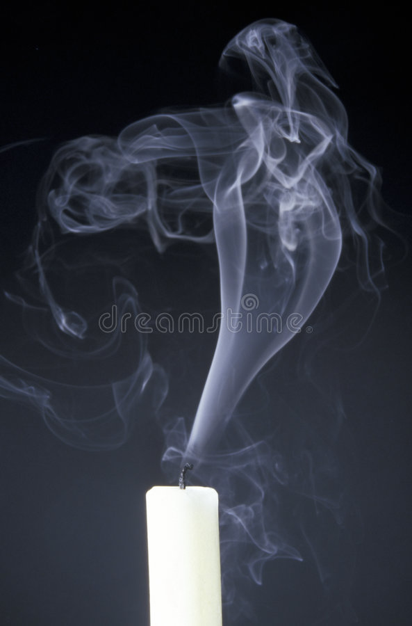Free Candle With Smoke Royalty Free Stock Photography - 9297387