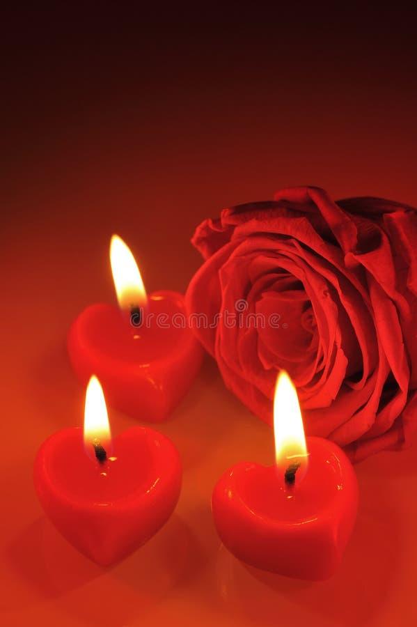 Candlehearts royalty free stock image