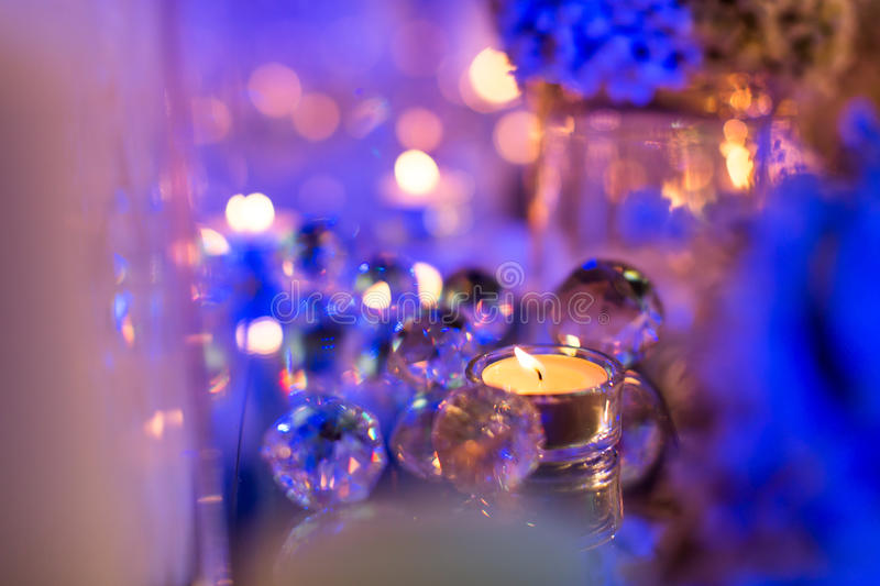 Candlelight Dinner royalty free stock photography
