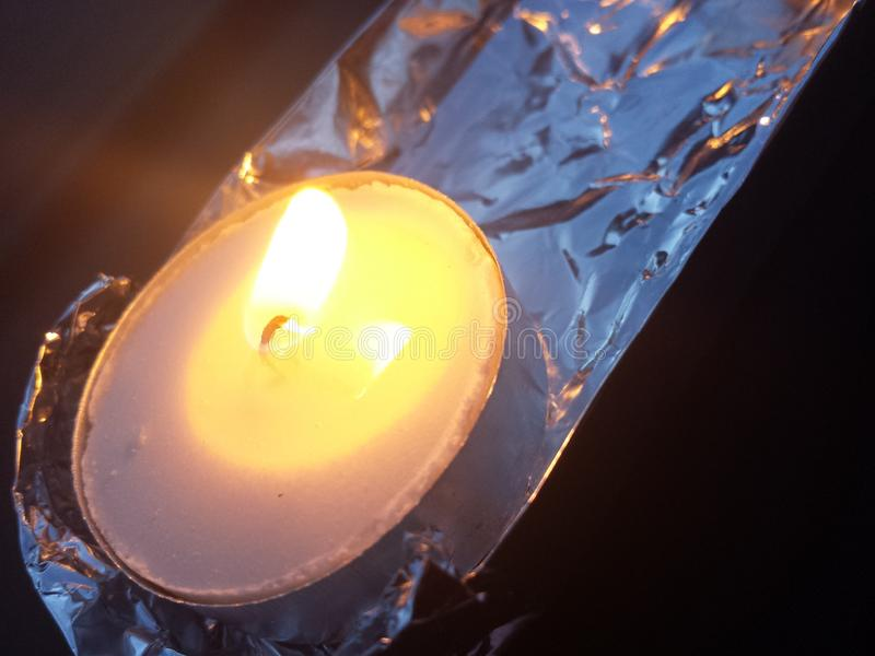 Candlelit Folie royalty-vrije stock afbeeldingen