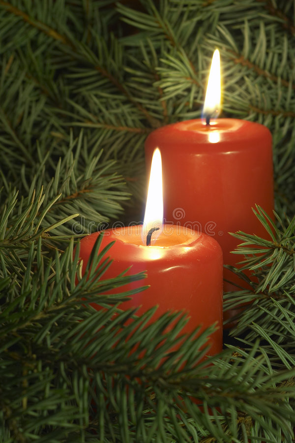 Download Candles stock photo. Image of flame, fire, yule, petals - 105016