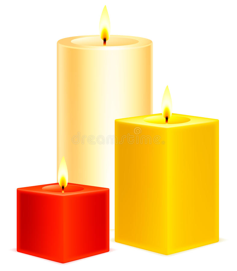 Candles. royalty free illustration