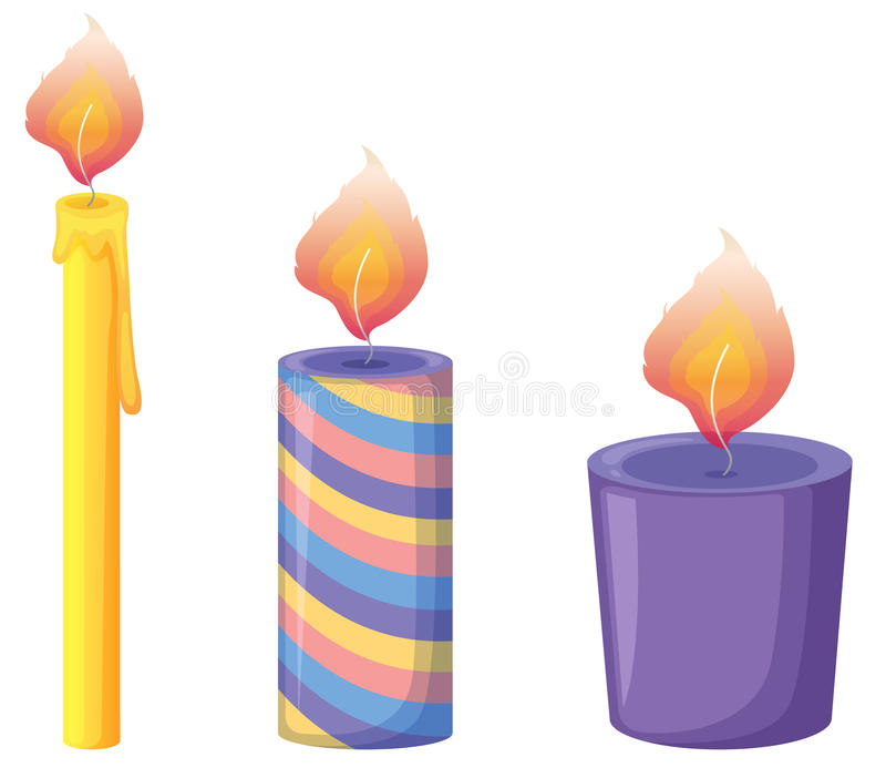 Download Candles stock vector. Image of illustration, element - 24660758