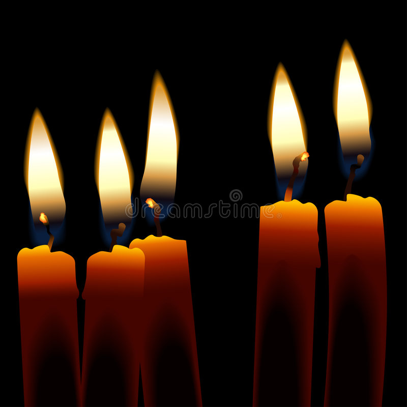 Candles vector illustration