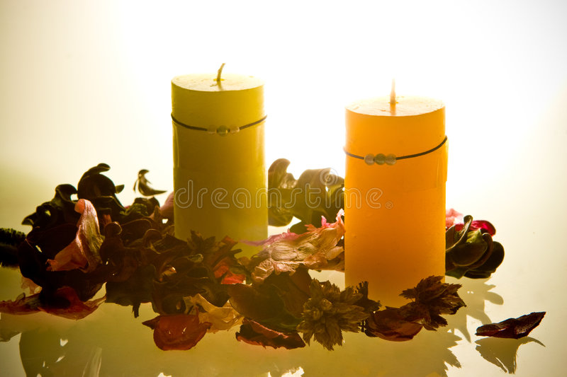 Candles aromatherapy royalty free stock image
