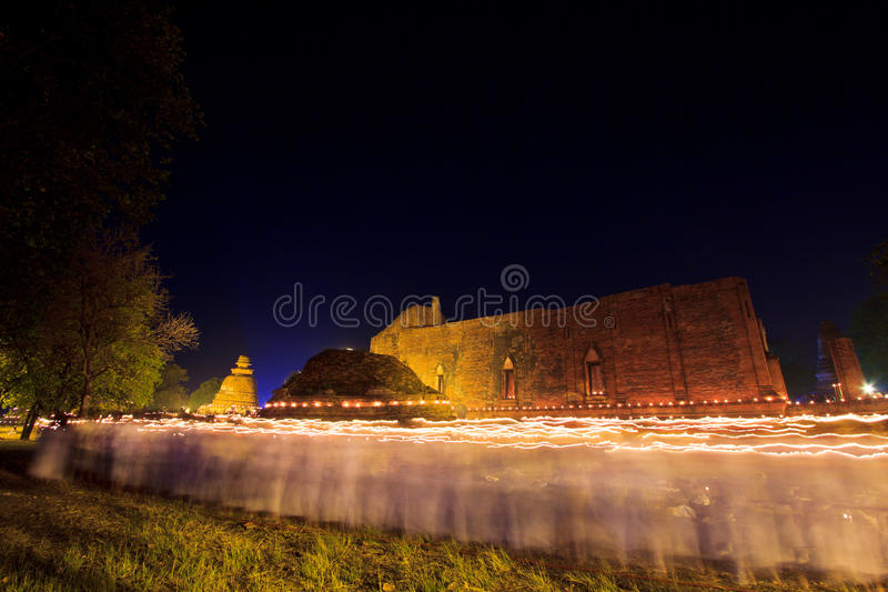 Download Candles Around The Ancient Temple Stock Image - Image: 33200515