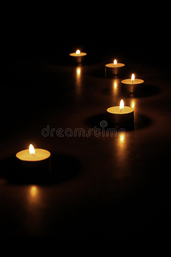 Free Candles At Night Royalty Free Stock Photo - 7515965