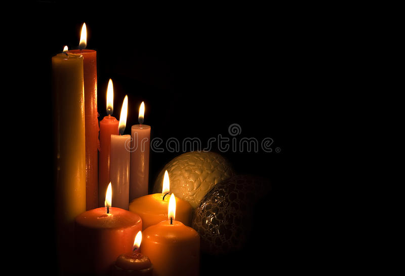 Download Candles and balls. stock photo. Image of family, friendship - 15448366
