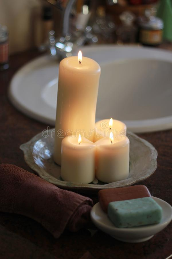 Download Candles In The Bathroom Stock Photo. Image Of Indoors   40872388