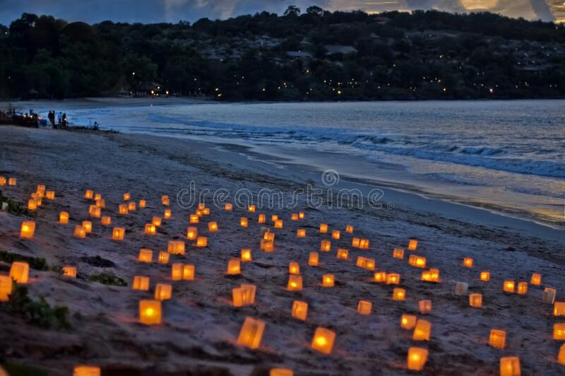 Candles by the ocean