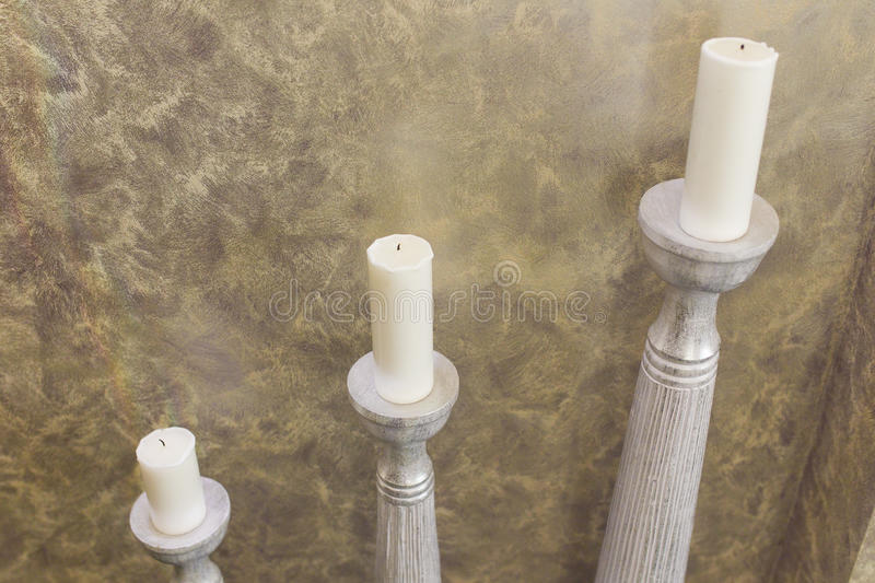 Download Candles stock image. Image of wall, candlestick, stone - 51484325