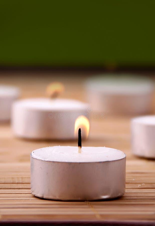Candles Burning Stock Image