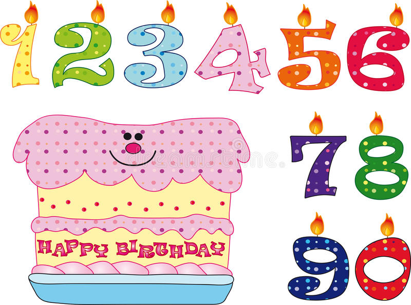 Download Candles And Cake For Birthday Stock Illustration - Illustration: 13701624