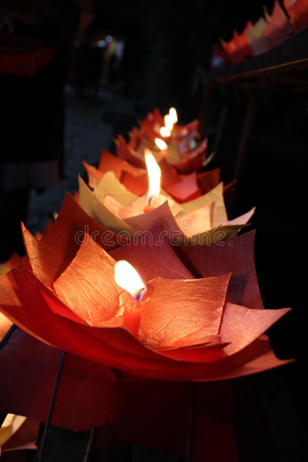 Flower candles royalty free stock photo