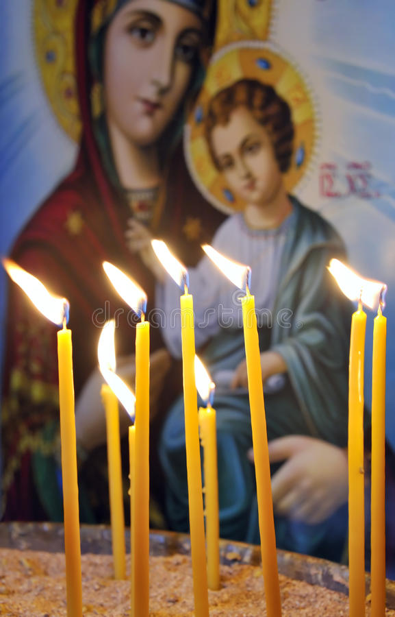 Download Candles In A Christian Orthodox Church Stock Image - Image: 10595393