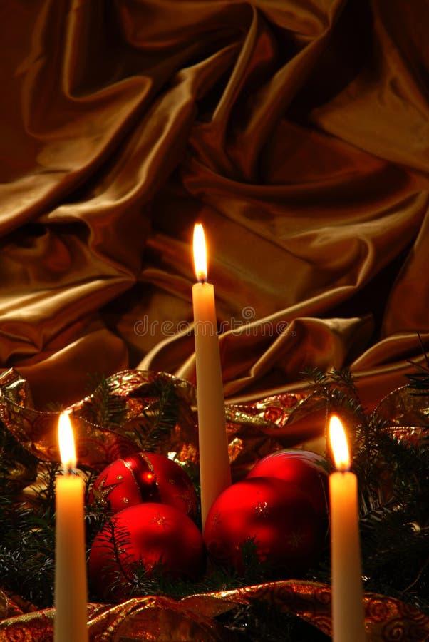 Download Candles And Christmas Balls Stock Image - Image: 27332881