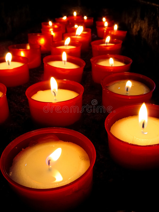 Candles church royalty free stock photography
