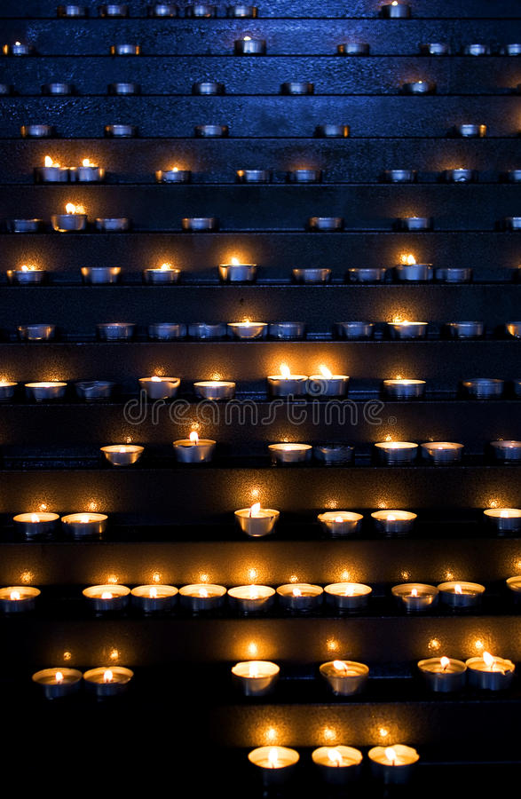 Download Candles in a church stock image. Image of romantic, pray - 33797583
