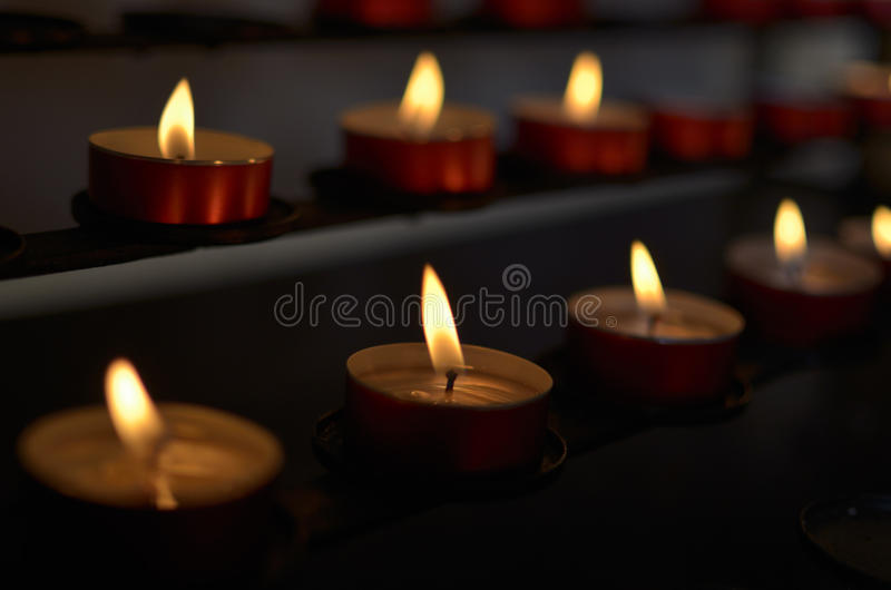 Download Candles in Church stock image. Image of fire, mass, light - 32226221