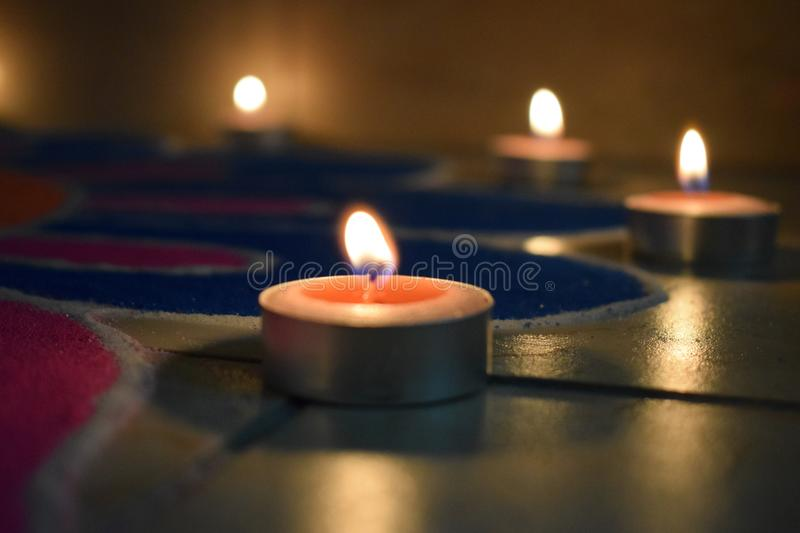 Candles and light royalty free stock images