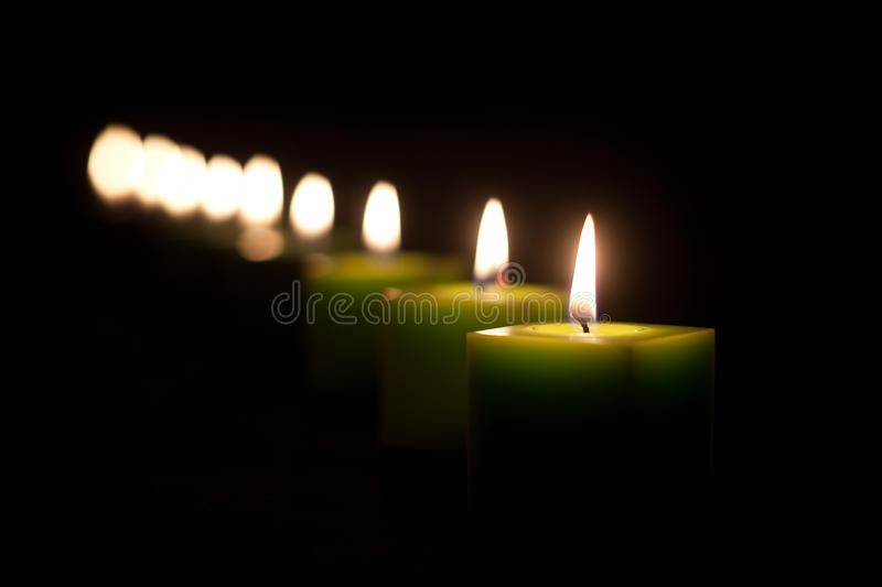Download Candles in the dark stock photo. Image of candlelight - 29195110