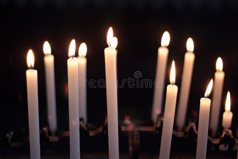 Download Candles in the darkness stock photo. Image of interior - 25650698