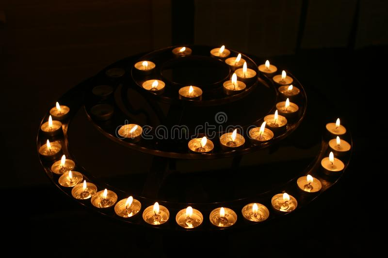 Candles in the Darkness royalty free stock image