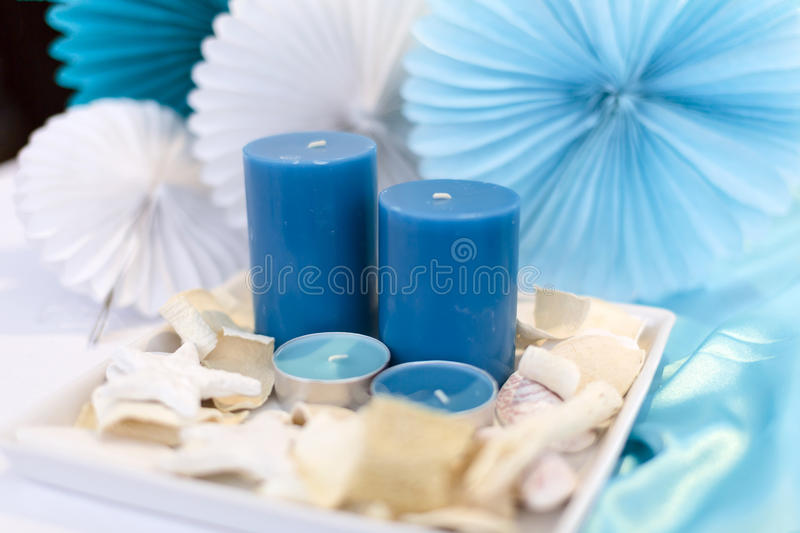 Candles decoration stock images